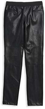 Ella Moss Girl's Jacey Faux-Leather Pants