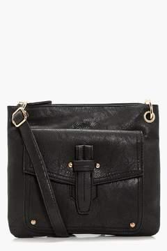 boohoo Emily Fold Over Detail Cross Body Bag