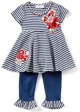 Bonnie Jean Bonnie Baby Baby Girls 12-24 Months Striped Dress & Solid Leggings Set