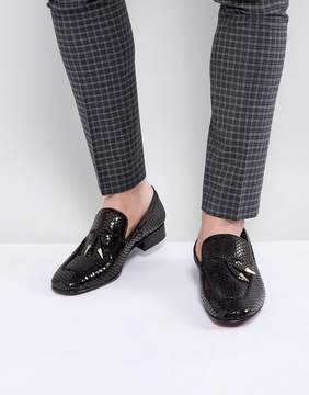 Jeffery West Jung Leather Tassel Loafers In Black