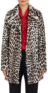 Barneys New York Women's Leopard-Print Fur Swing Coat