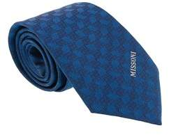 Missoni Abstract Blue Woven 100% Silk Tie.