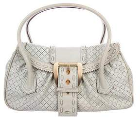 Celine Perforated Leather Handle Bag