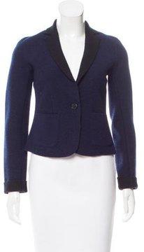 Armani Exchange Wool Notched Lapel Jacket