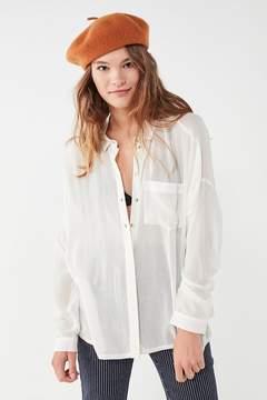 BDG Striped Twill Button-Down Shirt