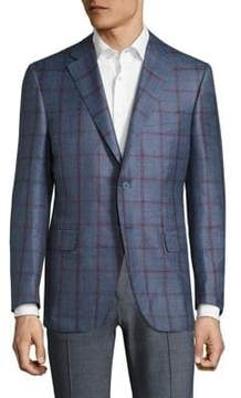Canali Checked Wool Jacket
