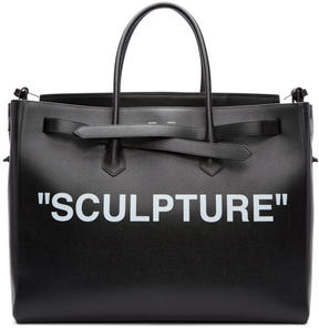 Off-White Black XL Sculpture Cut Flap Tote
