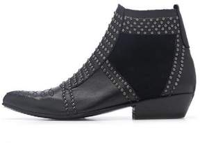 Anine Bing Black-Studded Ankle Boot