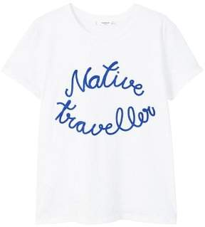 MANGO Embroidered message t-shirt