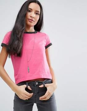 Brave Soul Contrast Rib T-Shirt
