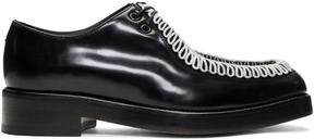 Raf Simons Black and White Embroidered Classic Derbys