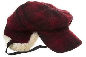 Barneys New York Barney's New York Shearling-Trimmed Wool Hat