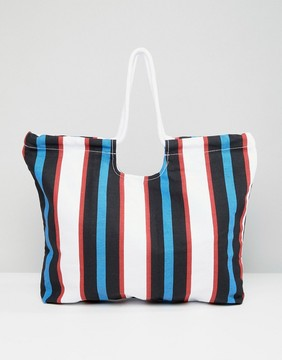 Monki Stripe Beach Bag