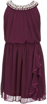 I.N. Girl Little Girls 4-6X Embellished-Neckline Dress