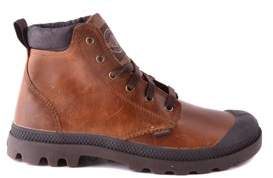 Palladium Men's Brown Leather Ankle Boots.
