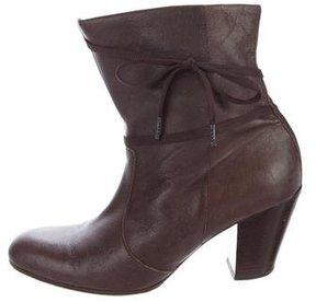 A.F.Vandevorst A.F. Vandevorst Leather Round-Toe Ankle Boots