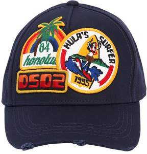 DSQUARED2 Surfer Patch Cotton Canvas Baseball Hat