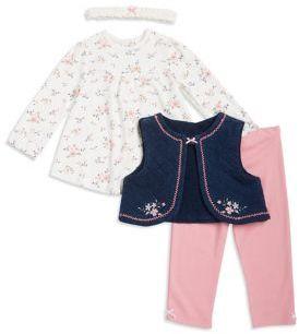 Little Me Baby's Four-Piece Vest, Top & Leggings With Headband Set