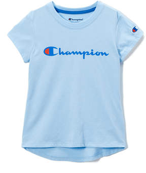 Champion Pale Blue Script Tee - Girls
