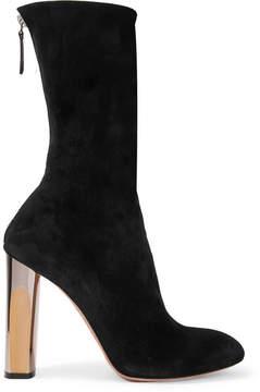 Alexander McQueen Embellished Suede Ankle Boots - Black