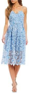 Donna Morgan Sleeveless Lace Midi Dress