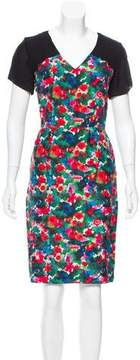 Band Of Outsiders Silk Watercolor Dress