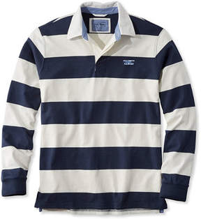 L.L. Bean Lakewashed Rugby, Traditional Fit Long-Sleeve Stripe