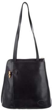 Longchamp Leather Bucket Bag