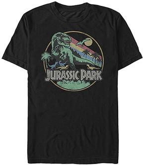 Fifth Sun Jurassic Park Black 'Jurassic Park' Retro Circle Tee - Adult