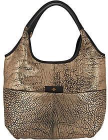 Oryany Metallic Lamb Leather Tote Bag- April