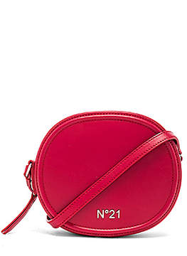 No. 21 Circle Small Crossbody Bag in Red.