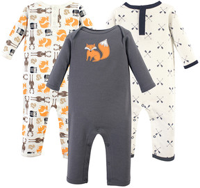 Hudson Baby Forest Fox Playsuit - Set of Three