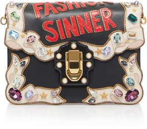 Dolce & Gabbana Embellished Lucia Leather Shoulder Bag