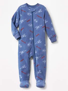 Old Navy Football-Print Performance Fleece Sleeper for Toddler & Baby