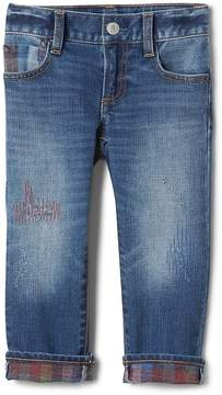 Gap Stretch rip & repair brushed straight jeans