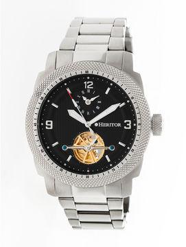 Heritor Helmsley Mens Silver Tone Bracelet Watch-Herhr5002