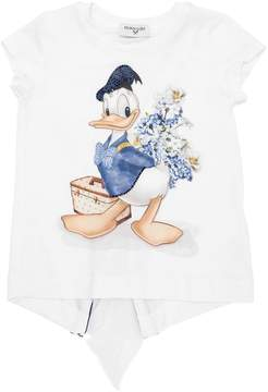 MonnaLisa Donald Duck Jersey T-Shirt W/ Ruffle