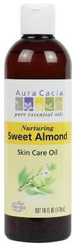 Aura Cacia Sweet Almond Natural Skin Care Oil - 16 oz