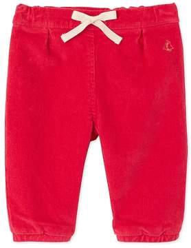 Petit Bateau Baby girls stretch velours pants
