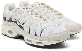 Nikelab Air Max Plus Nubuck-Trimmed Mesh Sneakers