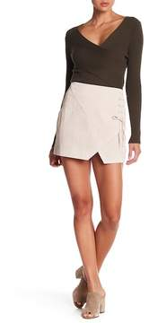 Blank NYC BLANKNYC Lace-Up Suede Mini Skirt