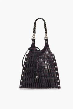 Sonia Rykiel Le Baltard Leather Croco Style Tote