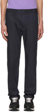 MSGM Navy Elasticized Waist Trousers