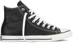 Converse Unisex Chuck Taylor All Star High Top, Black Leather, 11 B(M) US Women / 9 D(M) US Men