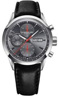 Raymond Weil The Freelancer Collection, Stainless Steel and Leather Watch