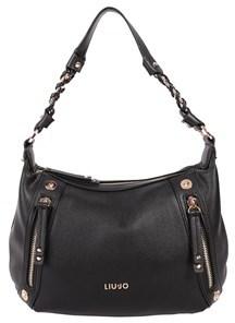 Liu Jo Women's Black Leather Shoulder Bag.