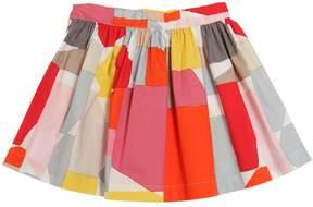 Il Gufo Geometric Printed Cotton Poplin Skirt