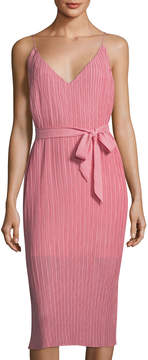 C/Meo Unstoppable Pleated Sleeveless Dress