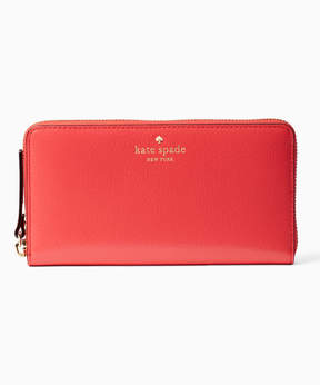Kate Spade Crab Red Grand Street Lacey Leather Wallet
