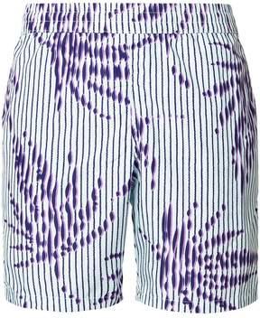 La Perla striped palm tree swim shorts